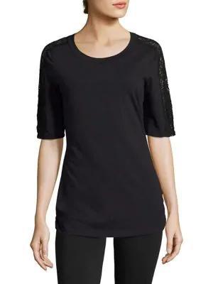 Cosabella Sonia Short-sleeve Pajama Top In Black