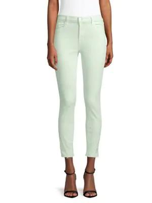 J Brand Alana High-rise Cropped Jeans In Spearmint