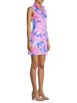 Lilly Pulitzer Skipper Sleeveless Collared Shift Dress In Bennet Blue