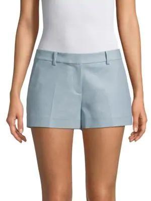 Michael Michael Kors Classic Mini Shorts In Light Chambray