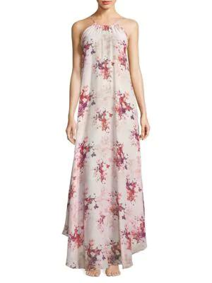 Sinesia Karol Lia Floral Maxi Dress In Gothic