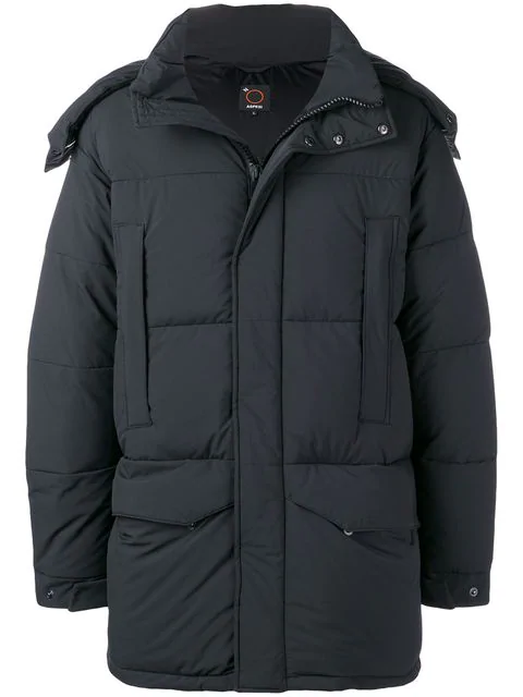Aspesi Oversized Padded Coat In Black