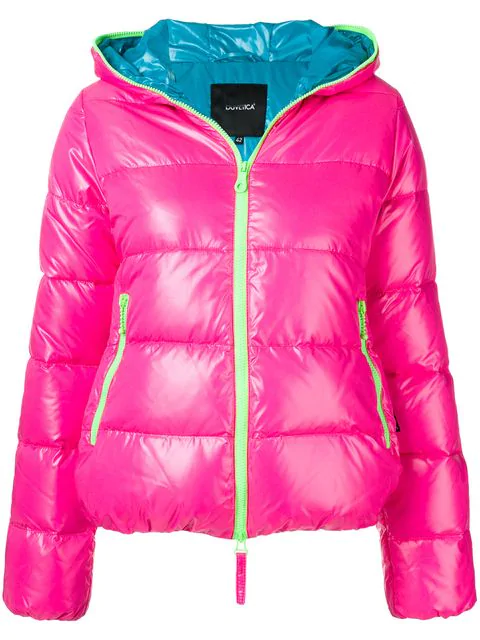 Duvetica Hooded Puffer Jacket In Pink