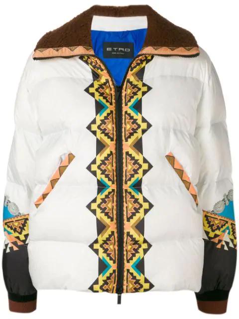 Etro Rainbow Padded Jacket In White