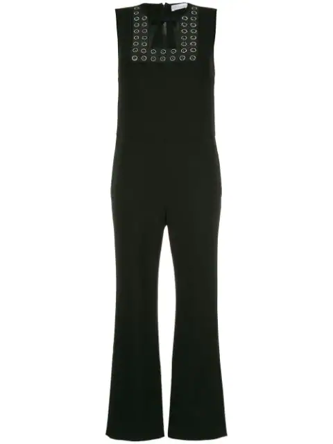 Red Valentino Bow Detail Jumpsuit - Black