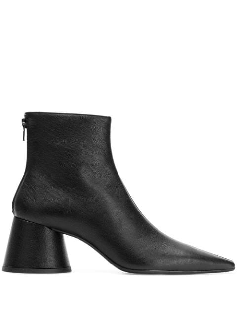 Mm6 Maison Margiela Pointed Ankle Boots In Black