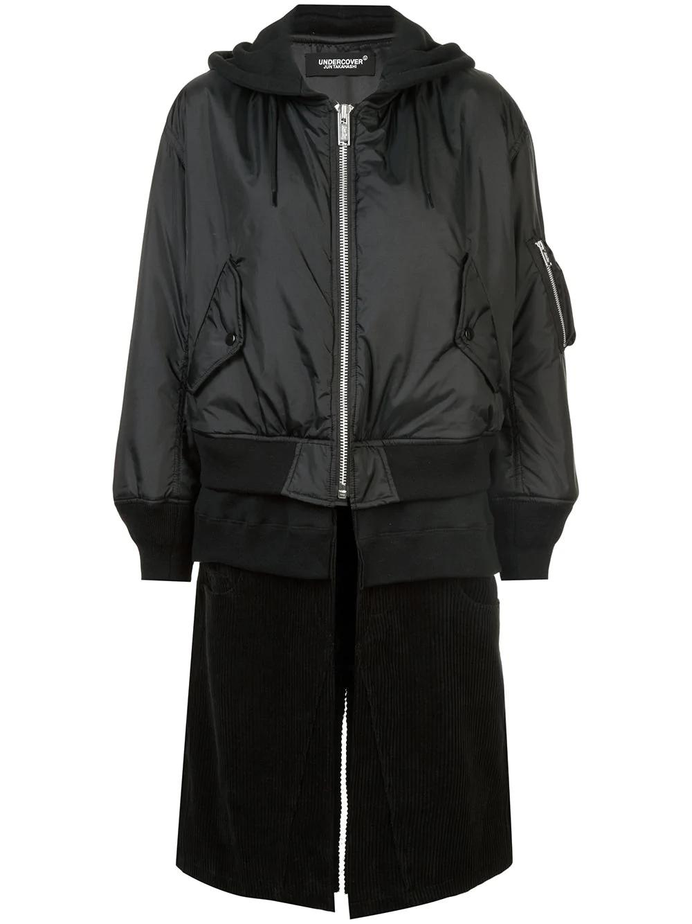 Undercover Layered Bomber Jacket In Black
