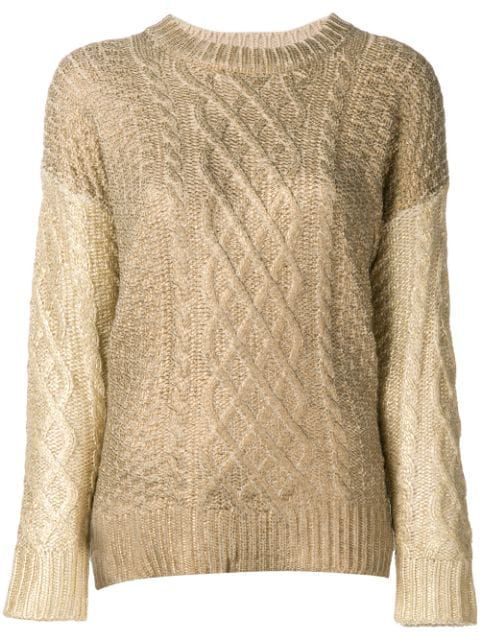 Twinset Twin-set Multi-knit Sweater - Gold