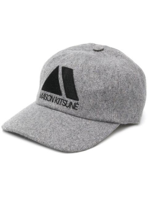 Maison KitsunÉ Embroidered Logo Cap In Grey