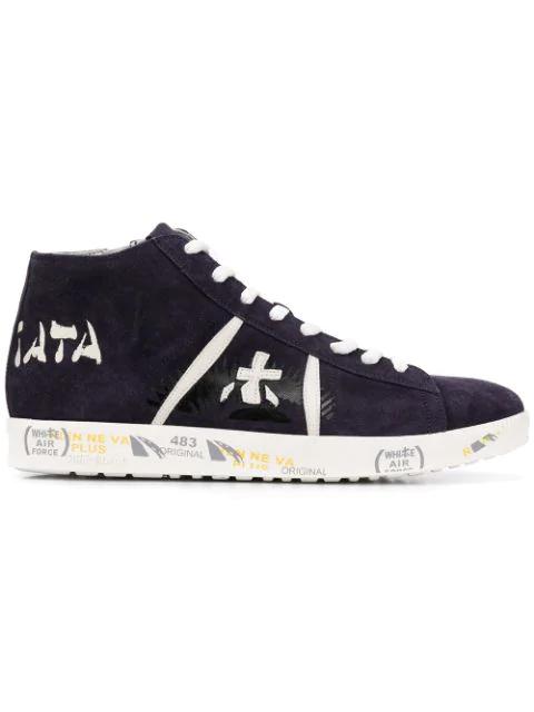 Premiata Tayl Hi-top Sneakers - Blue
