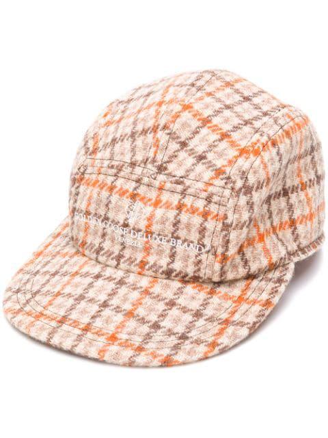 Golden Goose Deluxe Brand Rua Plaid Hat - Brown