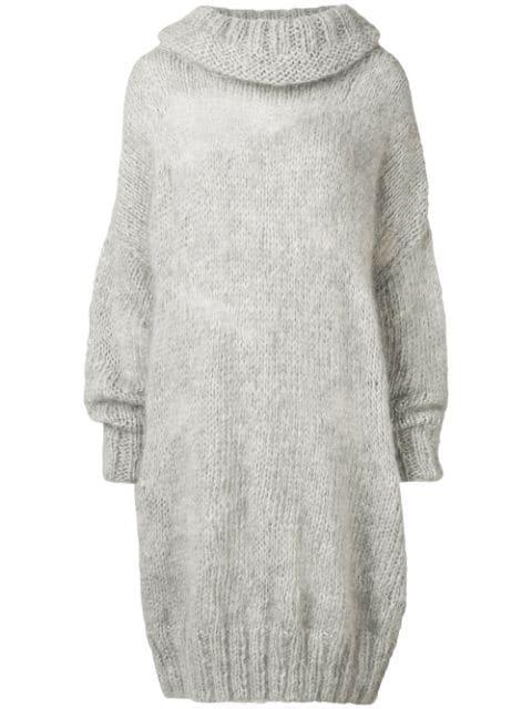 Poiret Oversized Knitted Jumper In Grey