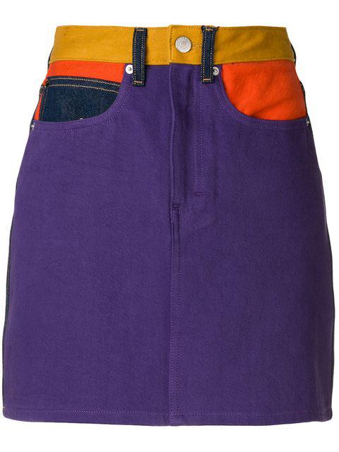 Calvin Klein Jeans Est.1978 Calvin Klein Jeans Colour Block Mini Skirt - Purple