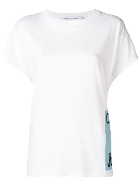 Calvin Klein Jeans Logo Patch T-Shirt - White