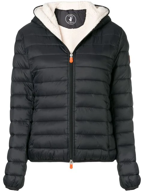 Save The Duck Padded Shell Jacket In Black