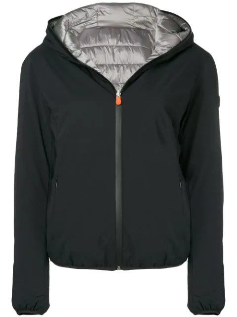 Save The Duck Hooded Jacket - Black
