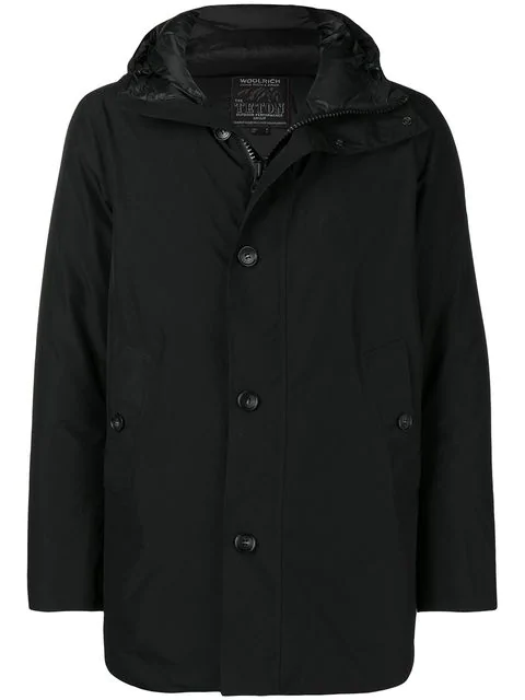 Woolrich Loose Fitted Coat In 100 Nero