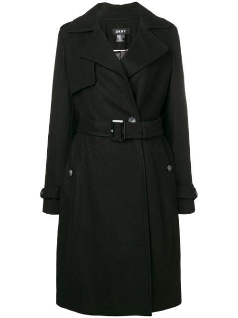 Dkny Wrap Coat - Black