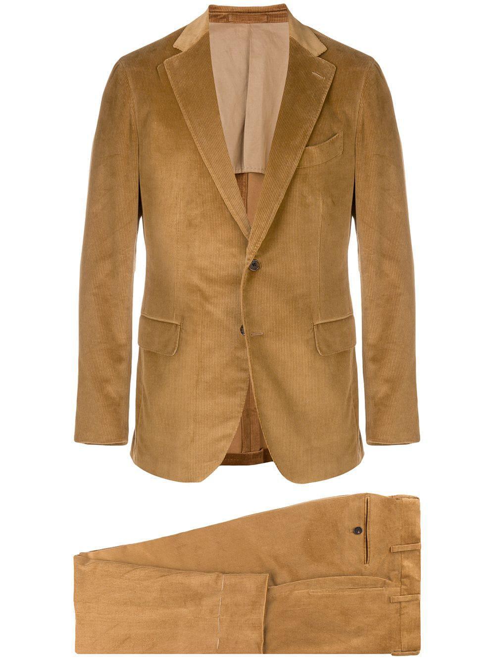 Lardini Two-piece Corduroy Suit - Neutrals