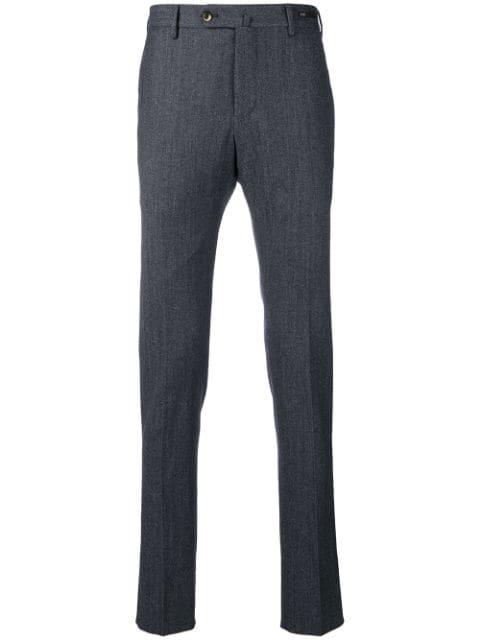 Pt01 Slim-fit Trousers - Blue