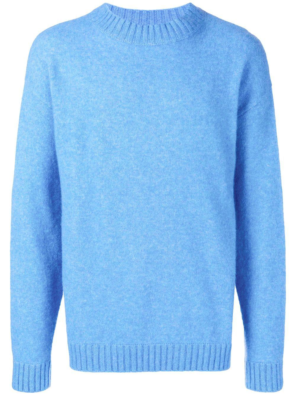 Laneus Crew Knitted Jumper - Blue