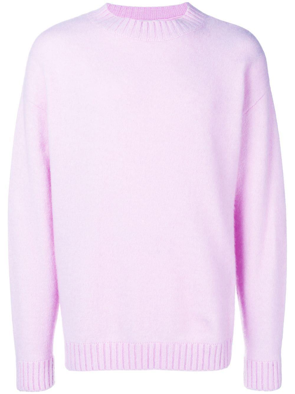 Laneus Crew Knitted Jumper - Pink