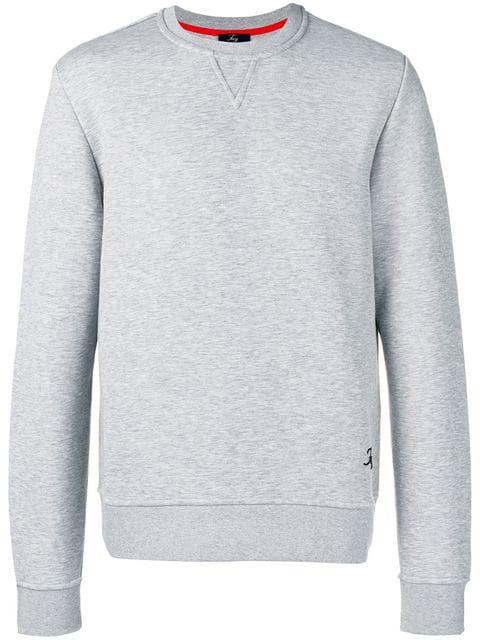 Fay Crew Neck Sweatshirt In Grey