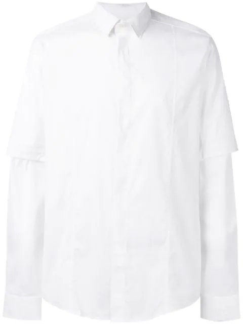 Les Hommes D-ring Buckle Shirt - White