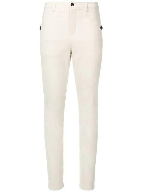 Isabel Marant Leonard Skinny Trousers In Neutrals