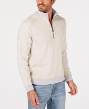 Tommy Bahama Men's Reversible Flipsider Half-zip Sweatshirt In Gray Smoke