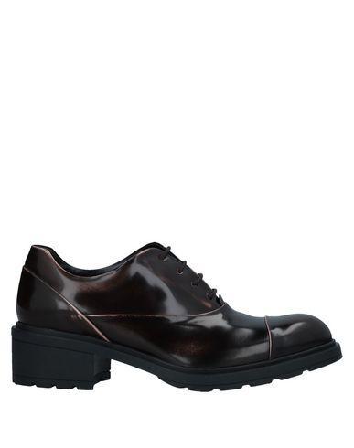 Hogan Laced Shoes In Dark Brown