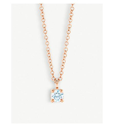 Tiffany & Co 18ct Rose-gold Diamond Pendant Necklace