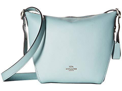 Coach Small Dufflette In Natural Calf Leather, Sv/light Turquoise