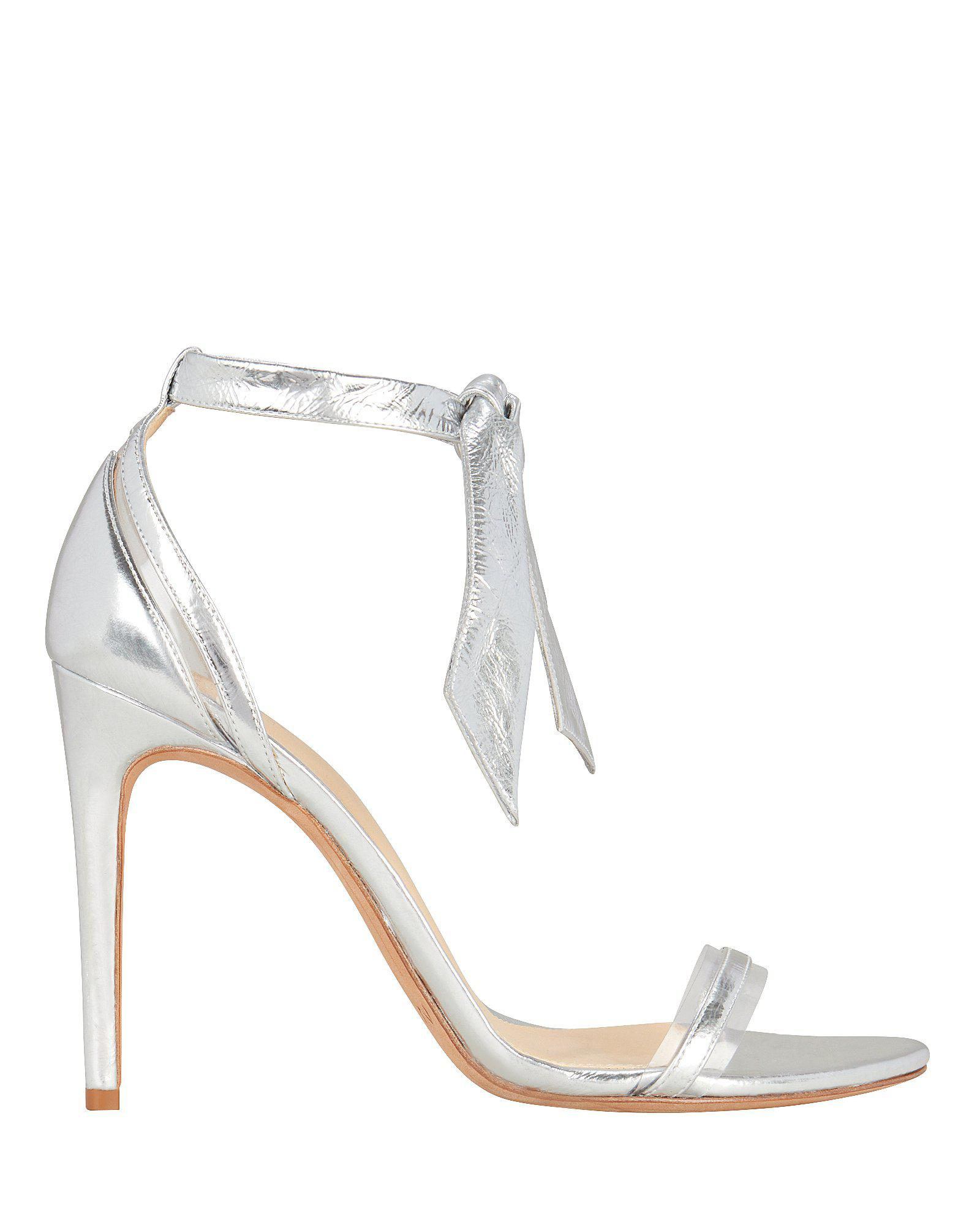 Alexandre Birman Clarita Pvc Silver Leather Sandals Silver