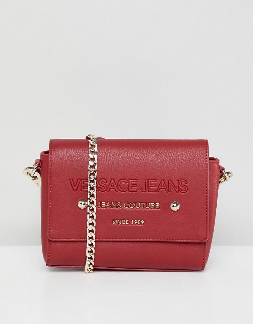 Versace Jeans Logo Multi-way Bag - Red
