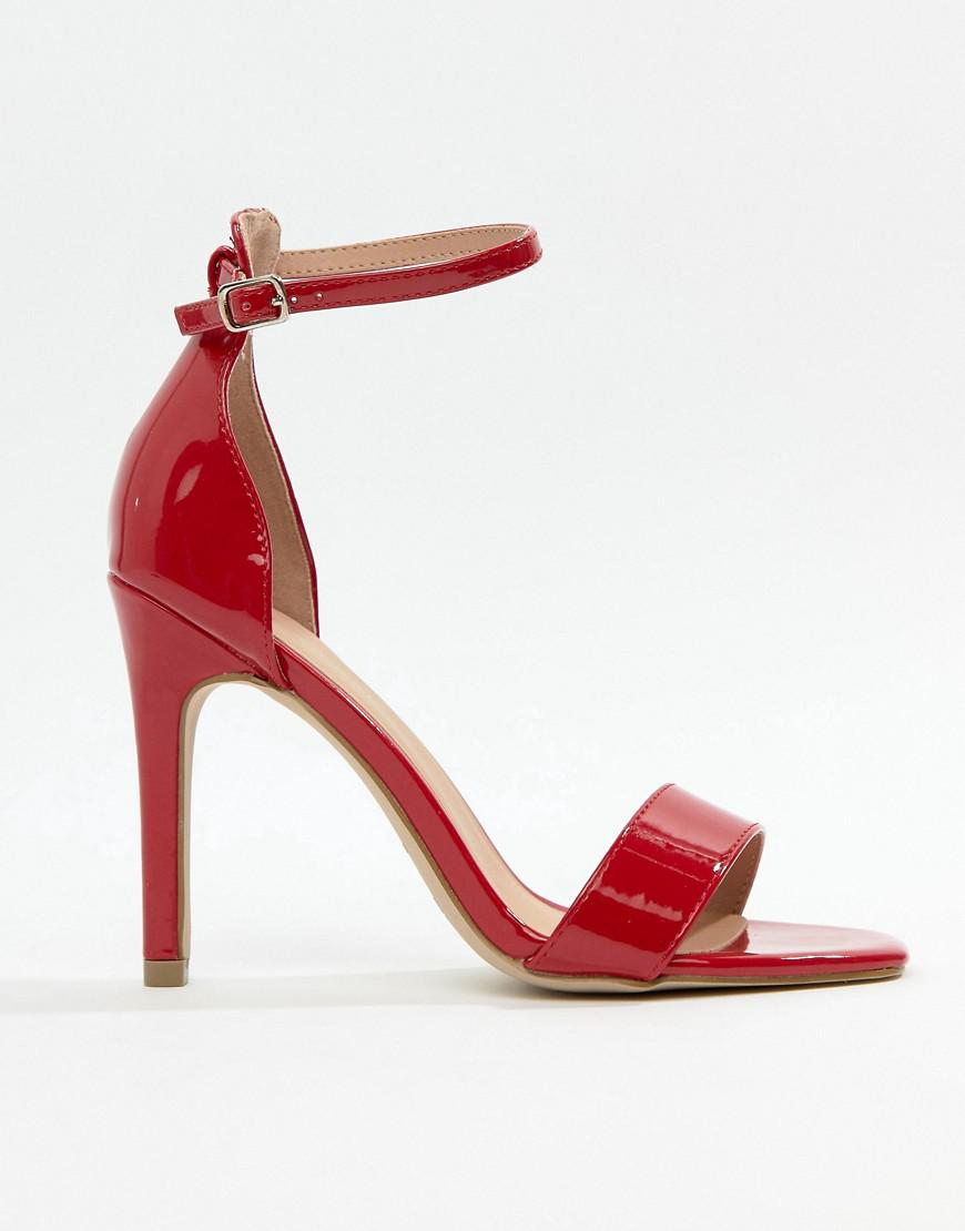 New Look Heeled Sandal - Red