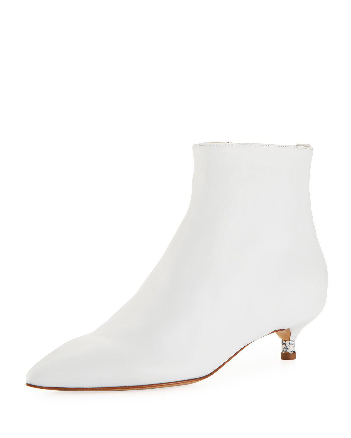 Gabriela Hearst Ricardo Calf Zip Booties In White