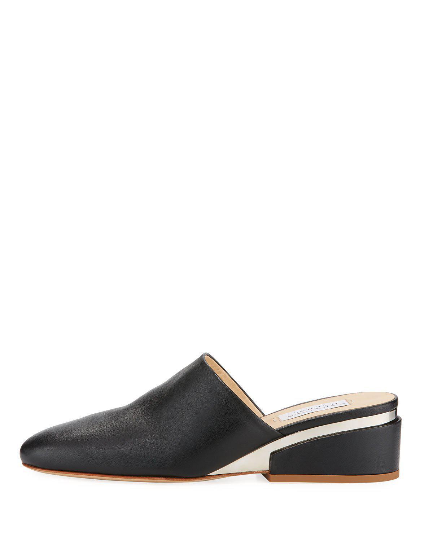 Gabriela Hearst Adele Leather Slide Mules In Black