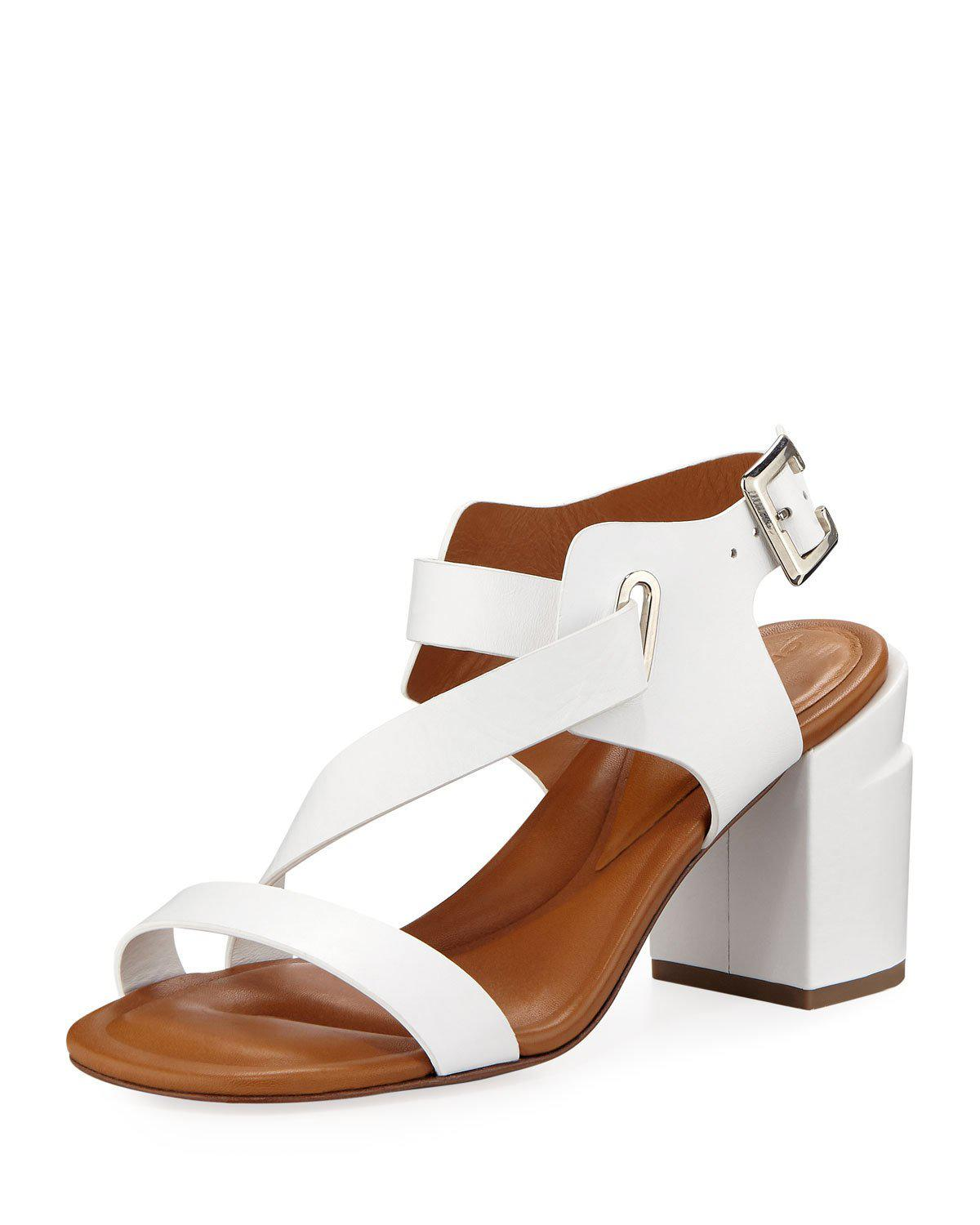 Robert Clergerie Alba Strappy Leather Sandals In White