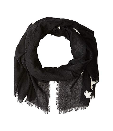 Michael Stars Textured Star Scarf, Black