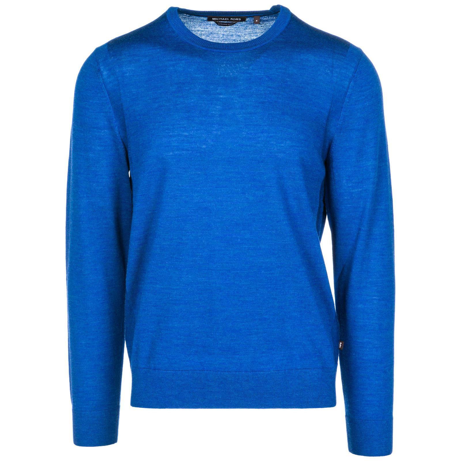 Michael Kors Men's Crew Neck Neckline Jumper Sweater Pullover In Blue