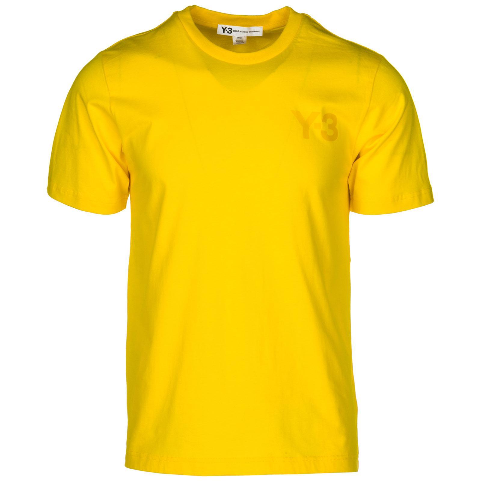 Y-3 Men's Short Sleeve T-shirt Crew Neckline Jumper In Yellow