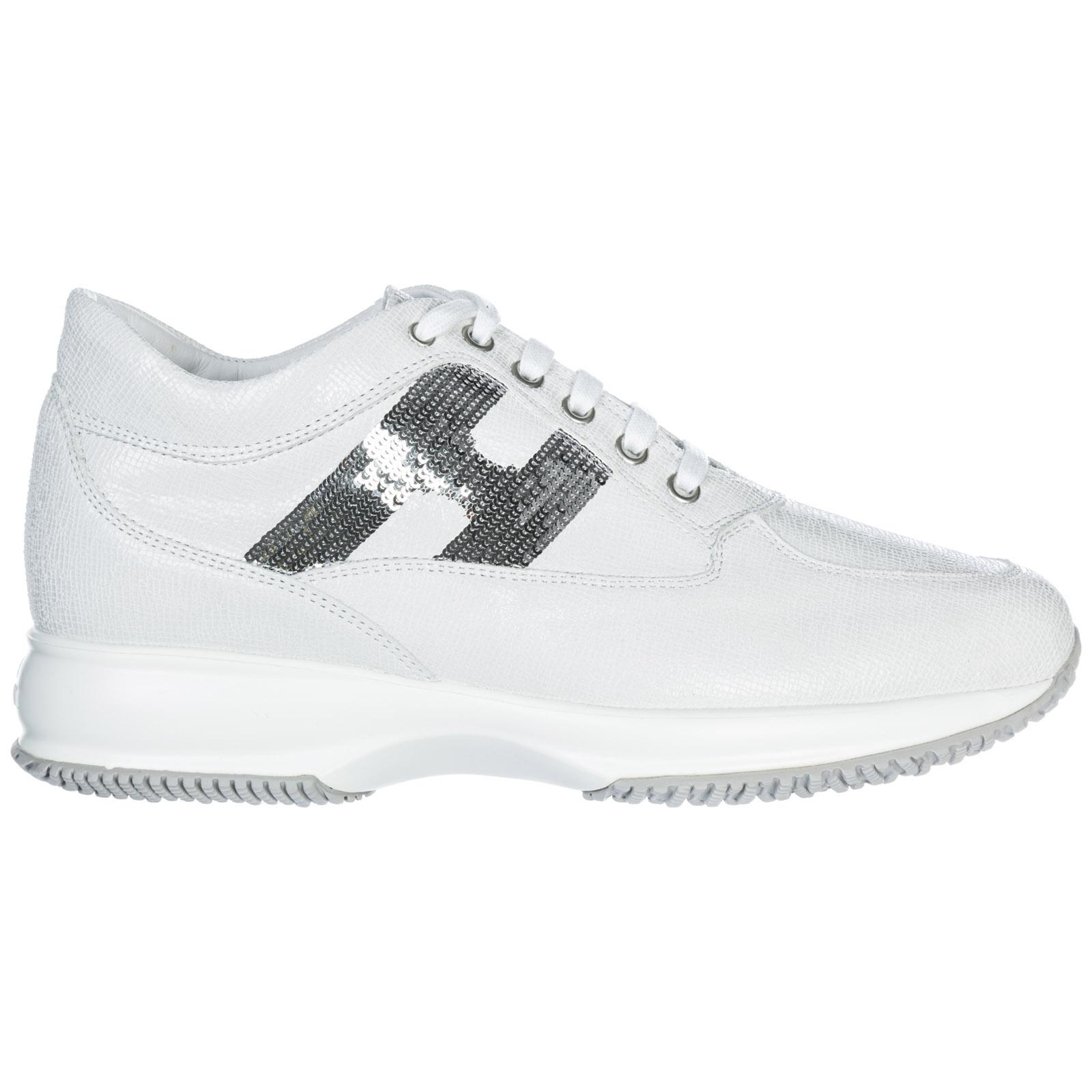 Hogan Women's Shoes Leather Trainers Sneakers Interactive In White