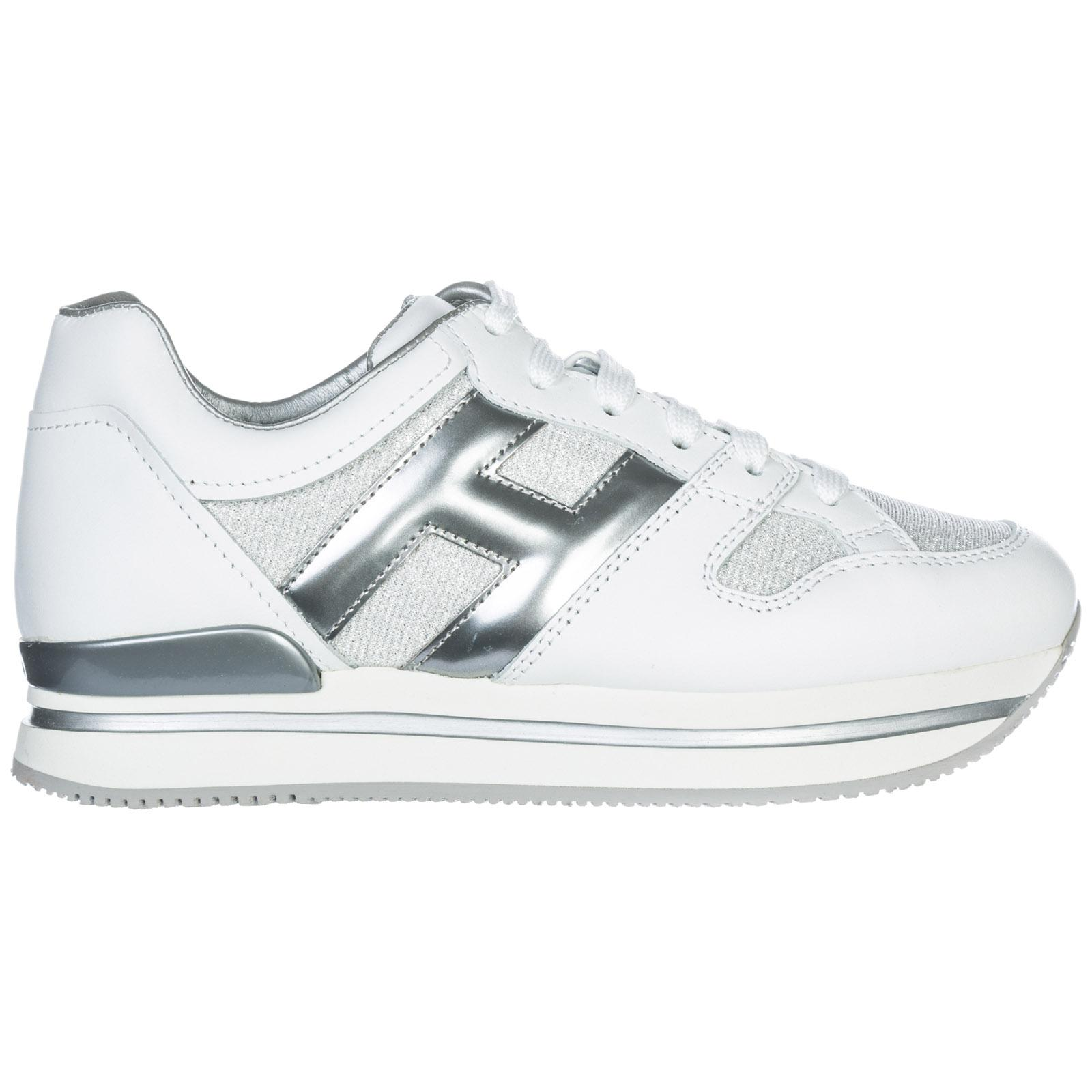 Hogan Women's Shoes Leather Trainers Sneakers H222 In White