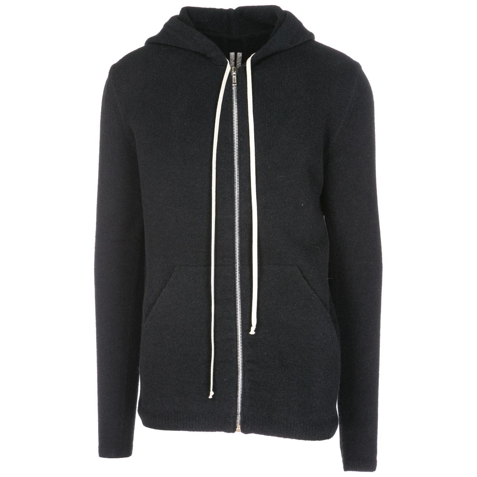 Rick Owens Men's Jumper Sweater Pullover Con Zip In Black
