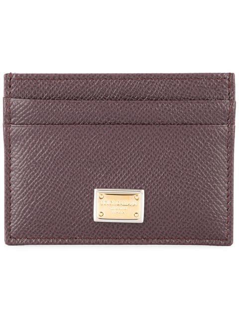 Dolce & Gabbana Dauphine Cardholder In 8m073 Wine