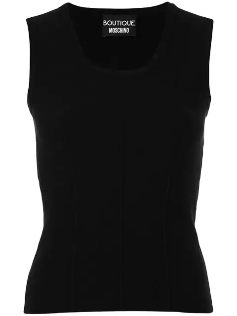 Boutique Moschino Stretch-jersey Top In Black