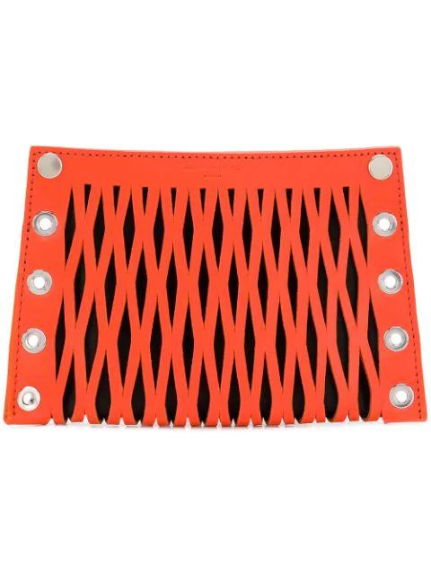 Sonia Rykiel Flat Pouch In Orange