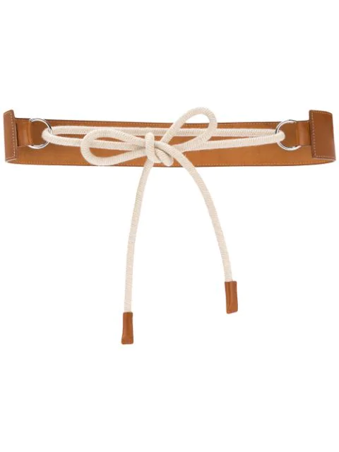 Muller Of Yoshiokubo Rope Belt In Brown