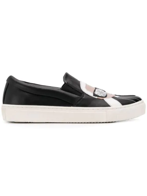 Karl Lagerfeld 'karlito' Slip-on-sneakers In Black